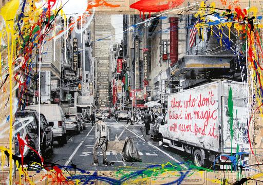 MR BRAINWASH - Pintura - Broadway
