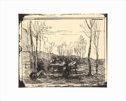 Camille Jean-Baptiste COROT - Print-Multiple - Dejeuner dans la clairiére.