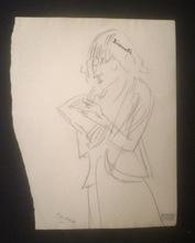 """Jules PASCIN - Disegno Acquarello - """"Lionette"""" (Hermine David)"""