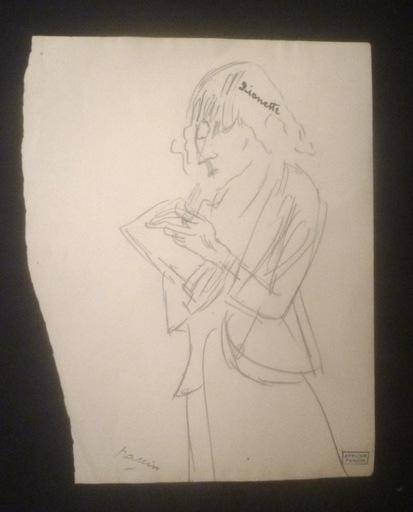 "Jules PASCIN - Drawing-Watercolor - ""Lionette"" (Hermine David)"