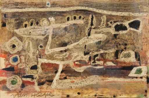 Willem VAN HECKE - Pittura - Abstracte compositie