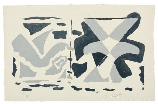Georges BRAQUE - Print-Multiple - Fenêtre II : oiseau gris