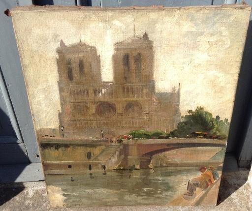 Léon CAUVY - Painting - Notre Dame