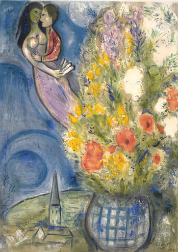 Marc CHAGALL - Grabado - The Poppies | Les Coquelicots