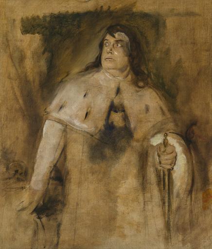Franz Seraph VON LENBACH - Pittura - Ernst von Possart als Richard III