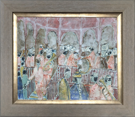 Bernardino TOPPI - Peinture - les musiciens