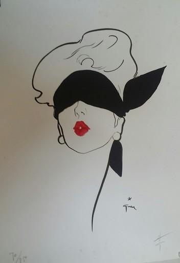 René GRUAU - Print-Multiple - Rouge baiser (yeux bandés)