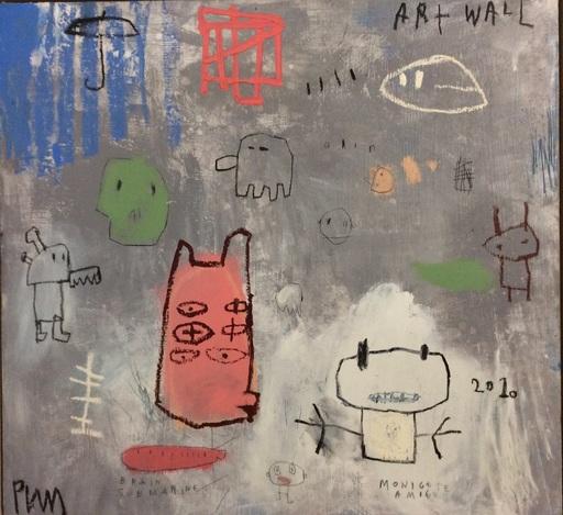 Edgar PLANS - Painting - Art wall