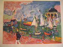 Jean-Claude PICOT - Grabado - La Touques à Trouville,1984.