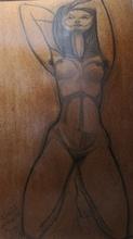 José Maria DE LABRA - Drawing-Watercolor - Desnudo
