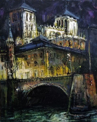 Gilbert PECOUD - Gemälde - Le Pont Bonaparte