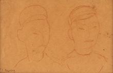 迭戈·里维拉 - 水彩作品 - Dibujo #14