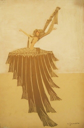 Charles Carl GESMAR - Drawing-Watercolor - Dancer