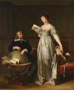 Marguerite GÉRARD - Painting - Une jeune femme venant de recevoir une lettre de son époux