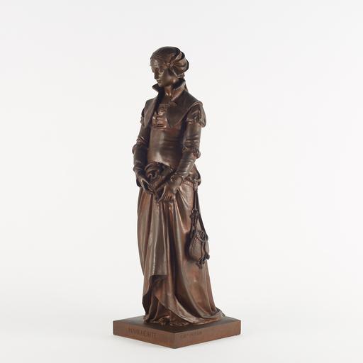 Eugène Antoine AIZELIN - Sculpture-Volume - Eugène Antoine Aizelin (1821-1902), Marguerite, XIXe
