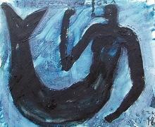 Jorge CABEZAS - Painting - sirena negra
