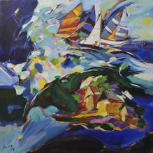 Bernard CADENE - Pittura - Ballade autour d'une ile