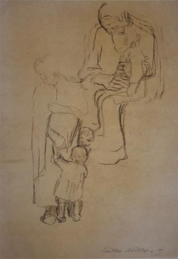 Käthe KOLLWITZ - Dibujo Acuarela -  Women with Children | Frauen mit Kindern