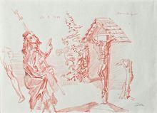 Werner TÜBKE - Dibujo Acuarela - Ravensburg