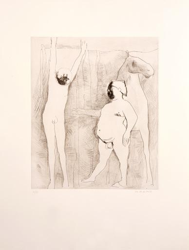 Marino MARINI - Grabado - L'IMPICCATO