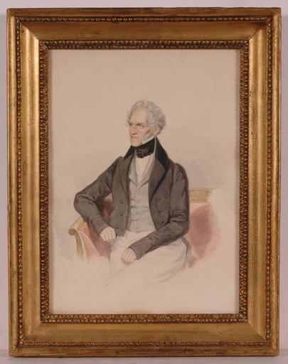 """Josef KRIEHUBER - Drawing-Watercolor - """"Prince Dietrichstein"""", Watercolor"""
