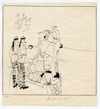 Jean Émile LABOUREUR - Drawing-Watercolor - DESSIN ORIGINAL ENCRE SURPAPIER SIGNÉ HANDSIGNED INK DRAWING
