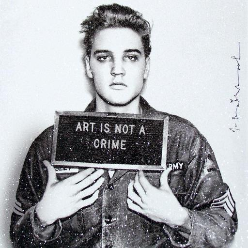 MR BRAINWASH - Print-Multiple - Happy birthday Elvis! (diamond dust)