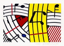 Roy LICHTENSTEIN - Print-Multiple - Composition IV (Musical Notes)
