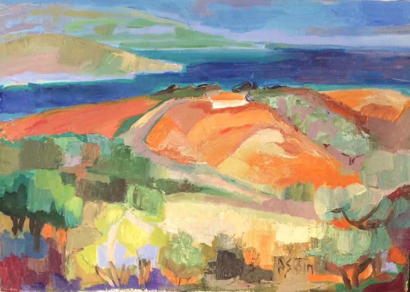 Marie ASTOIN - Painting - Bord de mer