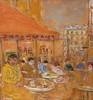 Marc CLAUZADE - Painting - La terrasse du champagne
