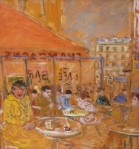 Marc CLAUZADE - Pintura - La terrasse du champagne
