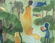 Manuel MENDIVE - Peinture - Ochun y el Rio