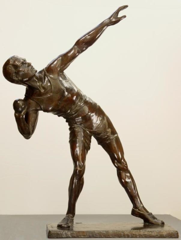 Marcel André BOURAINE - Sculpture-Volume - Shotputter