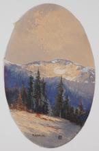 Heinrich VON WERTHEIM - Dessin-Aquarelle - Rax Alps by Heinrich Wertheim (1875-1945), Watercolor