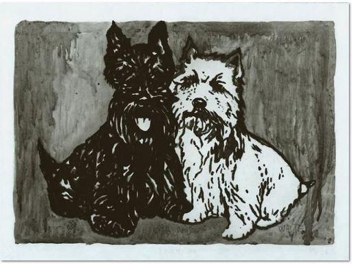 Peter DOIG - Estampe-Multiple - Double Dog Mappe