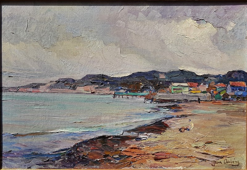 Jean AUBERY - Pintura - Marseille plage de la Pointe Rouge,