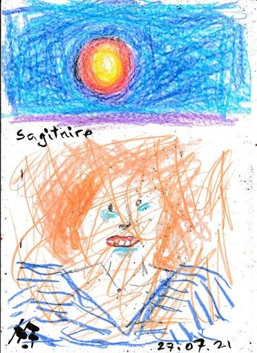Harry BARTLETT FENNEY - Drawing-Watercolor - a delightful sagitaire 1 (27 07 21)