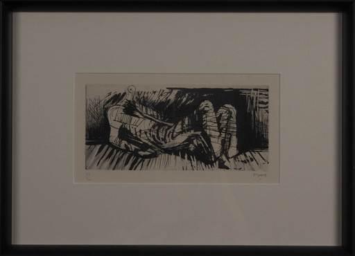 亨利•摩尔 - 版画 - Reclining figure III