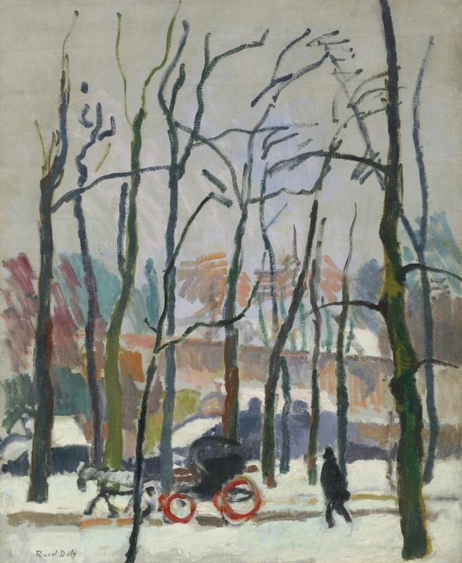 Raoul DUFY - Peinture - calèche à Falaise