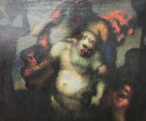 Adolf FREY-MOOCK - Painting - Trunkener Bachus