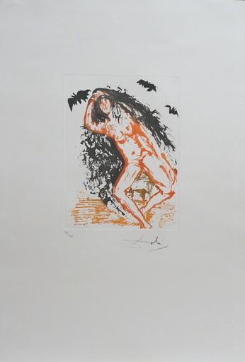 Salvador DALI - Grabado - 8 Mortal Sins Sloth