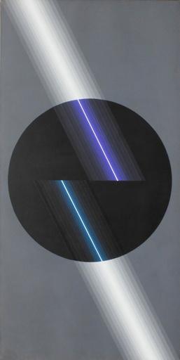 Horacio GARCÍA ROSSI - Peinture - Couleur Lumière noir gris