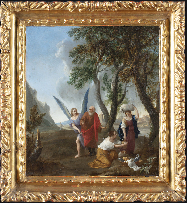 Pier Francesco CITTADINI IL MILANESE - Painting - Lot and his daughters