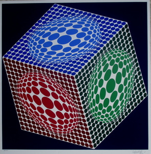 Victor VASARELY - Estampe-Multiple - Composition 3