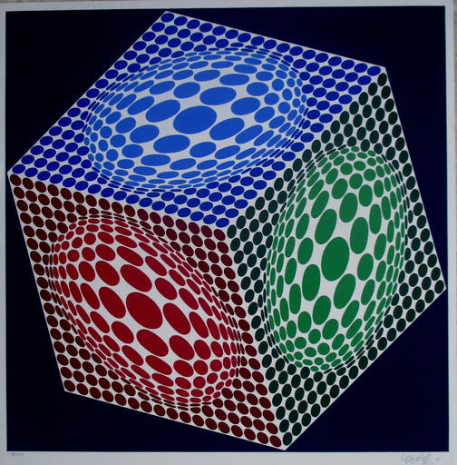 Victor VASARELY - Grabado - Composition 3