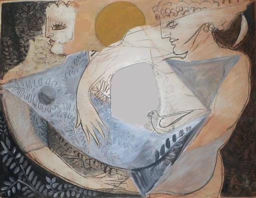 Christian BERNARD - Painting - Couple cubisant