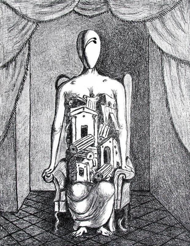 乔治•德•基里科 - 版画 - Il Pensatore, 1969