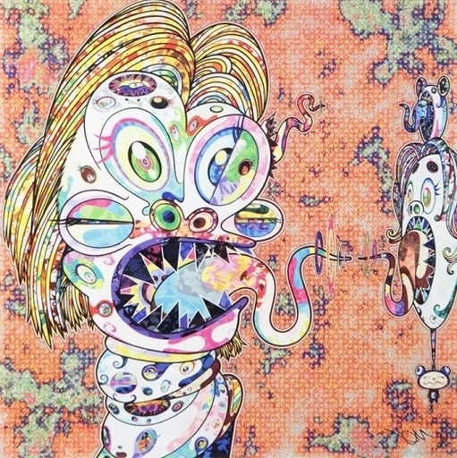 Takashi MURAKAMI - Print-Multiple - Homage to Francis Bacon (Study for Head of Isabel Rawsthorne