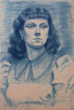 Pal FRIED - Drawing-Watercolor - Portrait of a Woman