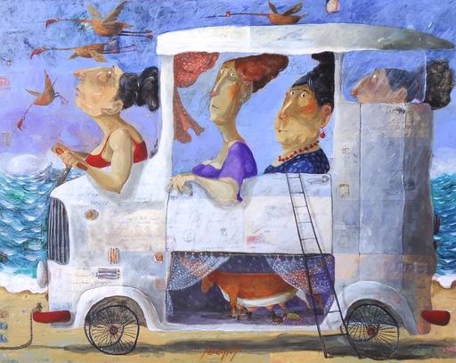 Pino PROCOPIO - Pintura - Madri in viaggio